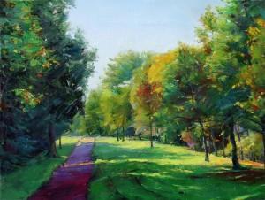 Route d'automne (Weixuan Li, huile, 61.46cm)