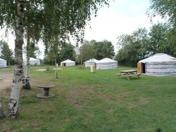 Yourtes du camping de Chavaniac