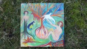 L'arbre placentaire (tableau Sylvie Dallet, printemps 2015)